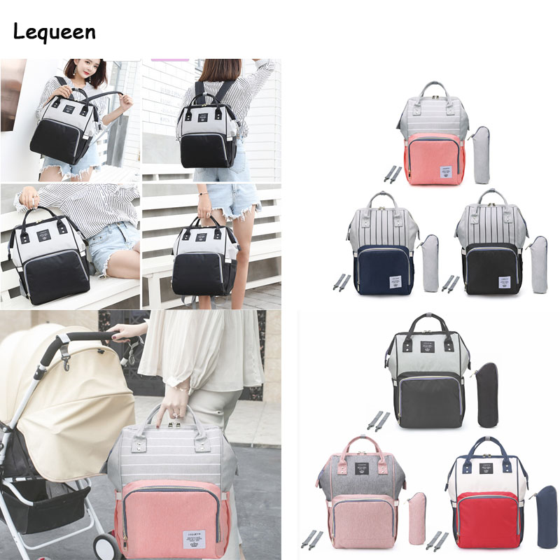 Lequeen Large Capacity Mummy Maternity Nappy Diaper Bag Mummy Maternity Diaper Handbags Pure Large Baby Nursing Travel BackpacksLequeen Large Capacity Mummy Maternity Nappy Diaper Bag Mummy Maternity Diaper Handbags Pure Large Baby Nursing Travel Backpacks