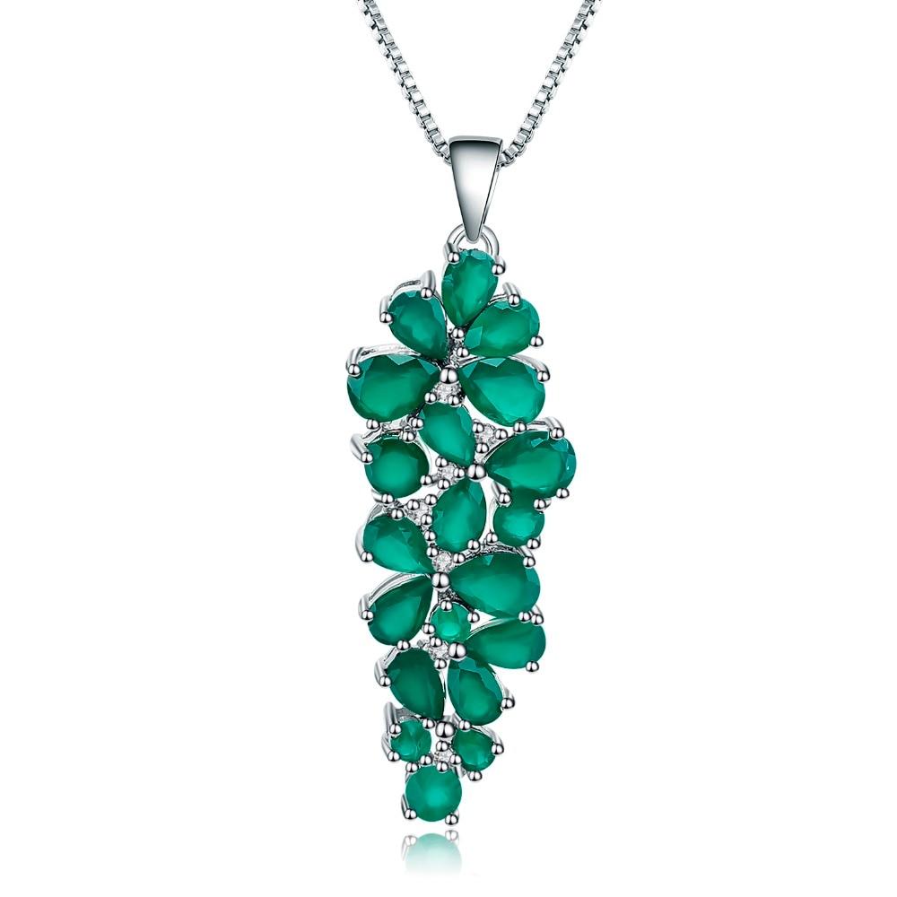 Gemme Ballet 8.22Ct naturel vert Agate Onyx pierre précieuse pendentif 925 en argent Sterling mère colliers et pendentifs bijoux fins