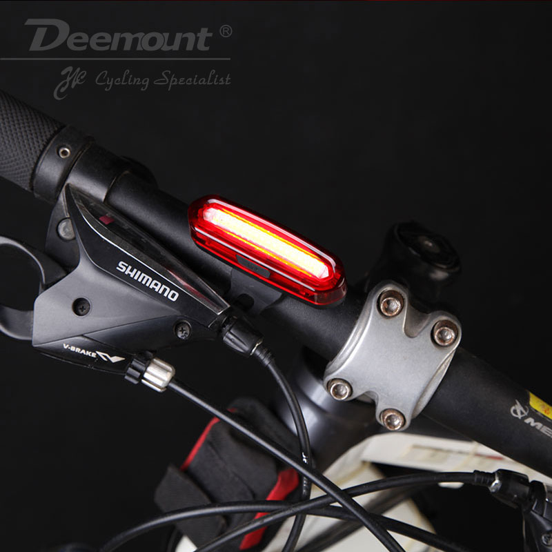 Deemount 100 LM Genopladeligt COB LED USB Mountain Bike Tail Light - Cykling - Foto 5