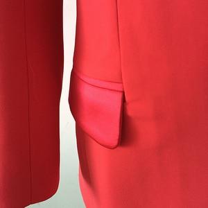Image 5 - Di ALTA QUALITÀ di Più Nuovo Modo 2020 Del Progettista Blazer Giacca da Donna star Raso di Stile Del Collare Lungo della Giacca Sportiva di Usura Esterno
