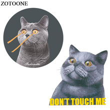ZOTOONE Funny Cat Patch Iron-on Transfers For Clothes Applique Sticker Heat Transfer Vinyl For T-shirts Thermal Transfer Paper parches cartoon cat heat transfer vinyl for t shirts iron on transfers patches for clothing thermal transfer sticker washable e