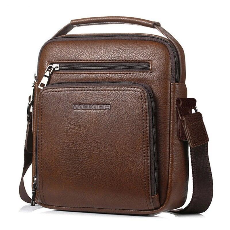 2e994555c2b1 Detail Feedback Questions about High Quality men shoulder bag vintage male  PU Leather Messenger Bags Brown zipper coffee Color crossbody bag bolsas on  ...