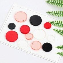 2pcs fashion japan and south korea harajuku wind circle round earrings for women girl pendant diy handmade jewelry accessories