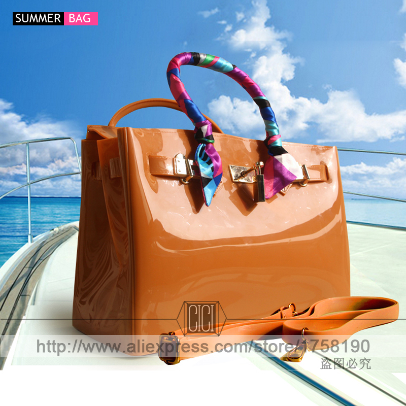 luxury handbags women bags high quality Jelly bags PVC waterproof beach tote Cas