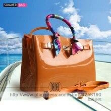 luxury handbags women bags high quality Jelly bags PVC waterproof beach tote Casual bag