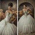 Сексуальный корсет бисероплетение милая свадебные платья vestido noiva бальное платье свадебные платья 2015 коллекции