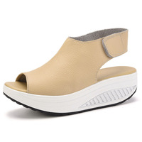 Women Casual Creepers Fashion Peep Toe Platform Shoes Women Flats Summer Breathable Creepers Heels Female Casual Shoes