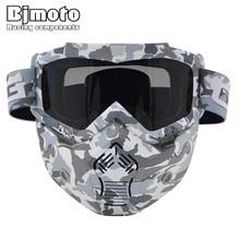 BJMOTO New Camouflage Ski Skate Motorcycle Goggle Motocross Goggles Helmet Glasses Windproof off Road Moto Cross Helmets Mask
