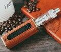 2015 melhor qualidade athena 60 w caixa de madeira mod cigarro eletrônico substituível bateria de 18650 20 conjuntos de controle de temperatura por atacado