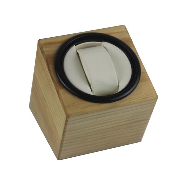 Devanadera de reloj, LT rotación automática de madera 1 + 0 caja de almacenamiento de reloj (exterior es de madera de pino) 2019