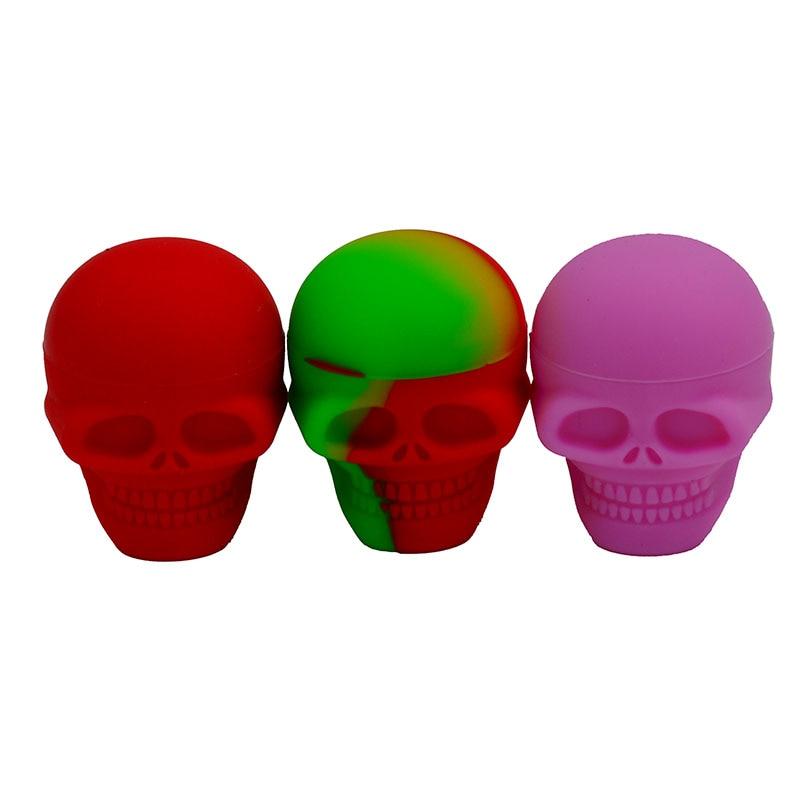 Bho Yapışmaz 3 ml Kafatası bütan için silikon balmumu konteyner - Evdeki Organizasyon ve Depolama - Fotoğraf 4