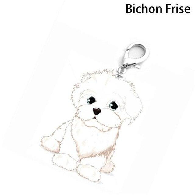 Prático 2018 NOVO Disco Pet ID Tag de Cão do Esmalte Colar de Pingente de Acessórios de Colarinho Bichon Frise Cão Suprimentos Drop Shipping C30428