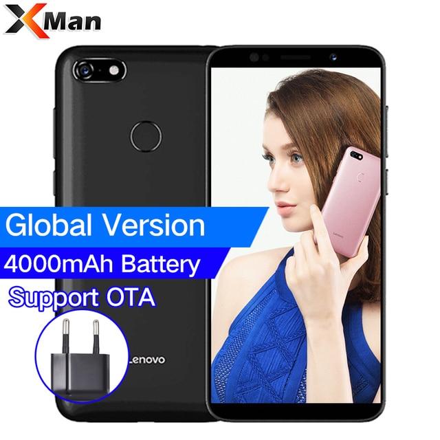 Global Version Lenovo A5 3GB RAM 16GB ROM 4G-LTE Android 8.1 Mobile Phone 5.45' MTK6739 Quad Core Fingerprint 13.0MP Cellphone