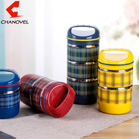 Portable Cute Japanese Bento Box Thermal Insulation Leak Proof Stainless Steel Lunch Box Food Fruit