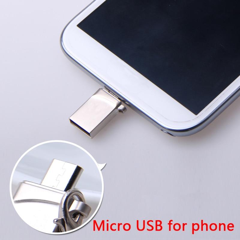 8GB 16GB 32GB 64GB 128GB 256GB 512GB Memoria USB Stick Key OTG USB Flash Drive Micro Pendrive Pen Drive For Android Smart Phone