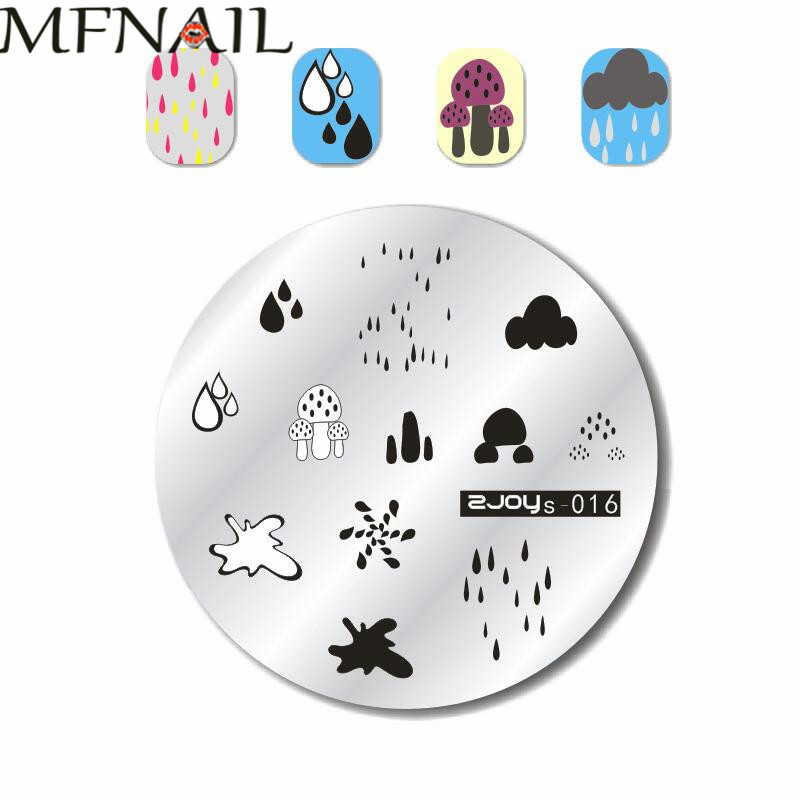 NEW Plate!! ZJOYS On sale 1PC Nail Stamping Plate Image Transfer Templates Stamp Tool --ZJOYS-016