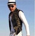 Мужской жилет куртка Королевский черный белый жилет Ночной этап человек певица пром танцовщица показать бар основной моды одежда