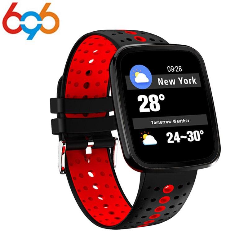 696 V6 Plus Smart Watch OLED HD Screen Fitness Tracker Smartwatch Heart Rate Blood Pressure Monitor Sports Smart Watch Bracelet