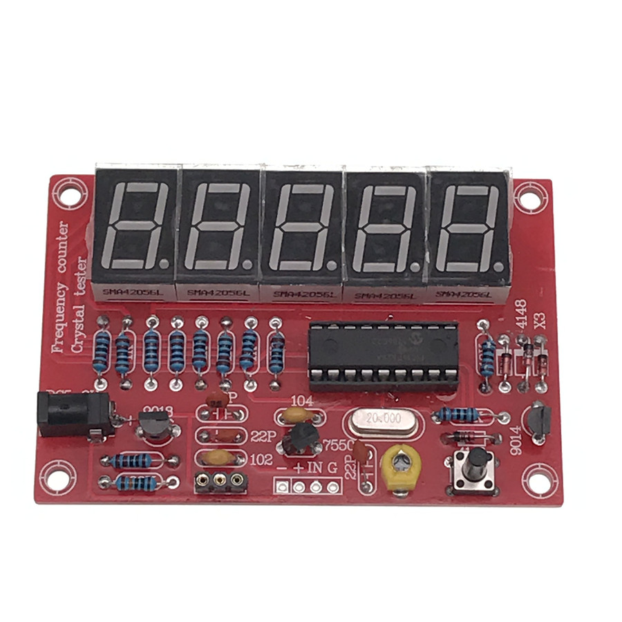 1Hz-50MHz <font><b>Crystal</b></font> Oscillator Frequency Counter Tester DIY Kit 5 Digits Resolution new Frequency Meters frecuencimetro image