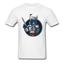 Fallout 4 5 76 T-shirt Men 100% Cotton Tshirt Vault JANGO BOY T Shirt Star Wars Bounty Hunter Boba Fett Tops Tees Funny Gesture