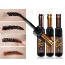 Permanent eyebrow gel black coffee gray peel off eyebrow shadows Eyebrow gel Cosmetics Make-up for women High pigment makeup
