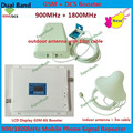Display LCD! branco GSM Repetidor 4G LTE FDD Telefone Móvel Celular Repetidor De Sinal de 900 MHz 1800 MHz GSM DCS Repetidor do Impulsionador amplificador
