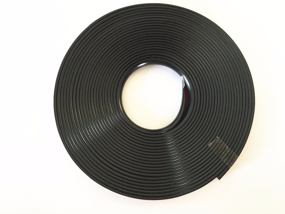 8M Roll Black WHEEL RIM PROTECTOR TIRE Edge GUARD LINE EXTERIOR Accessory Rubber MOULDING TRIM With Tape Auto Car Motorcycle SUV 8m rim tape wheel stripe decal trim sticker