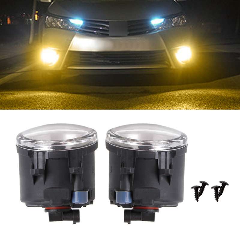 HNGCHOIGE 1 Pair 10W 9 LEDs Front Fog Light DRL Driving Lamp For Toyota Corolla Camry Yaris for Lexus 89210656 Car Yellow Light car front bumper fog lamp lights for toyota yaris camry avensis rav4 corolla highlander matrix prius for lexus rx270 lx570