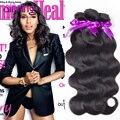 10A peruana Cuerpo Virgen de la Onda Del Pelo 3 Bundles 100g Trenzado MS Coco Coser En Extensiones de Cabello Peruana Body Wave New Star Hair
