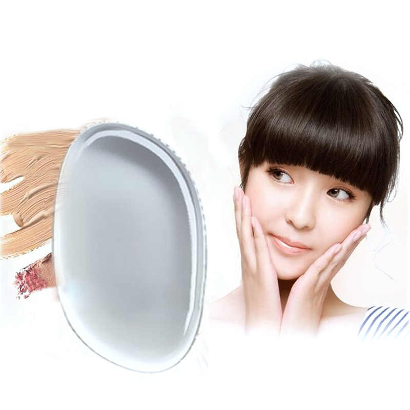 50Pcs Baru Bening Silikon Makeup Powder Puff Ellipse Jelly Puff Kosmetik Kecantikan Makeup Alat Kesehatan Transparan Makeup Sponge Puff