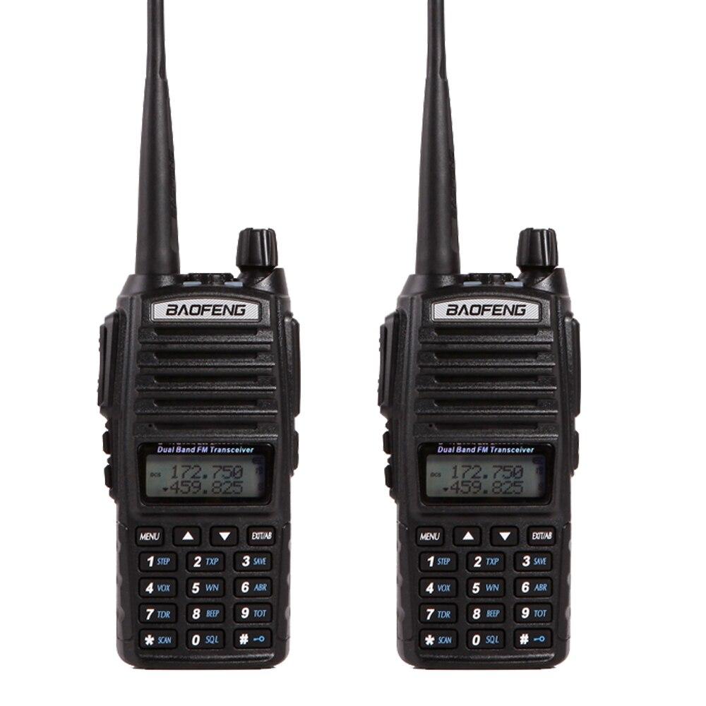 Walkie Talkie Baofeng UV-82 Δύο Way Ham CB Φορητό ραδιόφωνο Comunicador Amador VHF & UHF 136-174MHz & 400-520MHz 2 τεμ.