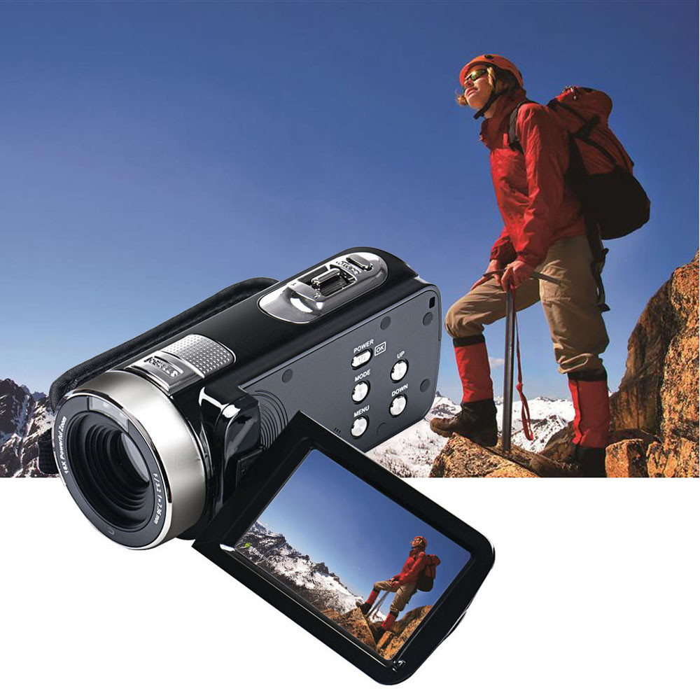 Full HD 1080P 24MP Digital Video Camcorder Camera DV HDMI 3'' TFT LCD 16X ZOOM 32GB 270 Degree Rotation Battery Included 2018