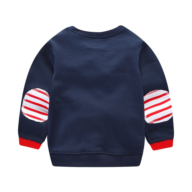 New 2017 Brand Quality 100% Terry Cotton Boys sweatshirt baby Clothes Children Clothing birds printing boys t shirts for kids