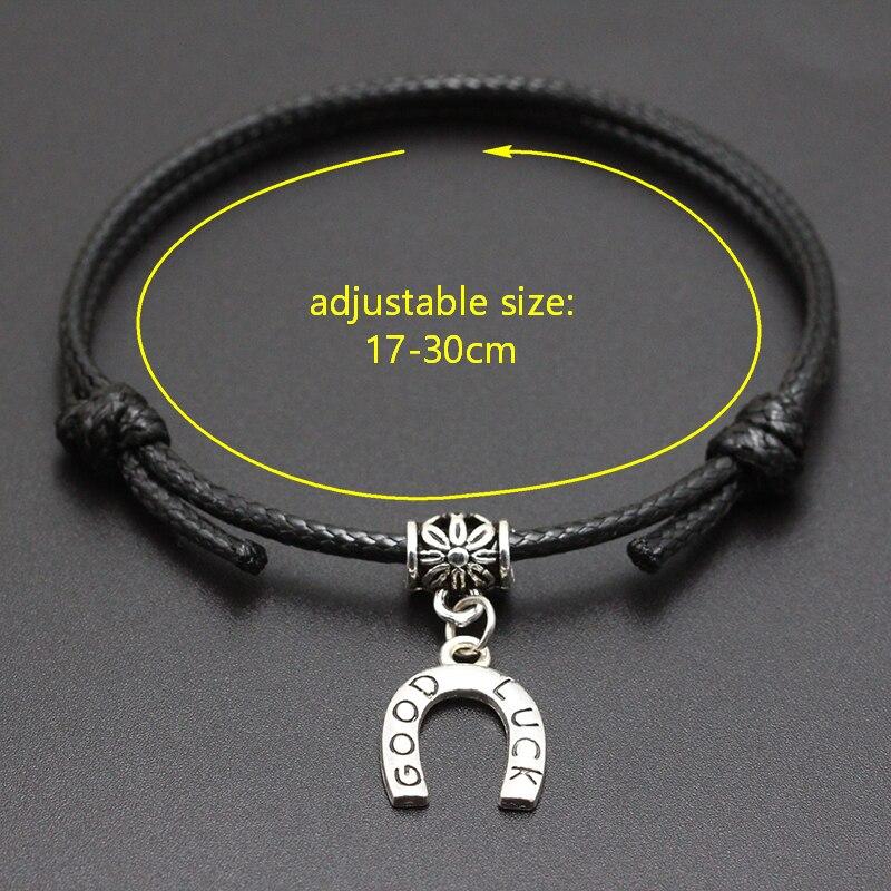 2020 New I Love Soccer Pendant Red Thread String Bracelet Lucky Black Coffee Handmade Rope Bracelet for Women Men Jewelry