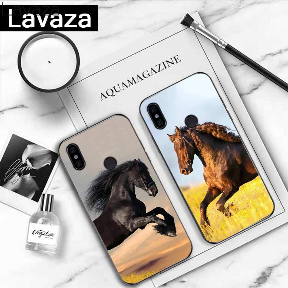 Lavaza 17 8 k201FF cute Horse Silicone Case for Redmi 4A 4X 5A S2 5 Plus 6 6A Note 4 Pro 7 8 k20 Prime Go in Fitted Cases from Cellphones Telecommunications