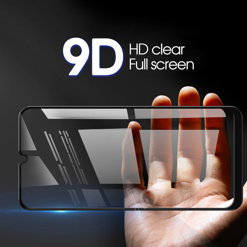 Text - 9D Curved Tempered Glass on the For Samsung Galaxy A30 A50 A10 Screen Protector on For Samsung M10 M20 M30 Protective Glass Film