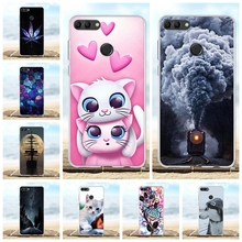 For Huawei Y9 2018 Cover Ultra Thin Soft TPU Silicone For Huawei Y9 2018 Case Animal Patterned For Huawei Enjoy 8 Plus Coque Bag чехол tfn huawei y9 2018 tpu clear