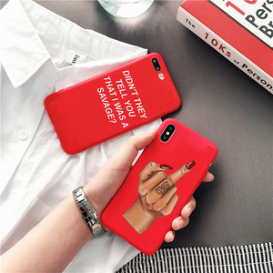 Fundas Sexy Rihanna Coque Capa red Soft Silicone Phone Cover for iphone 8 7 6 6s plus X XR XS MAX 11 pro phone cases(China)