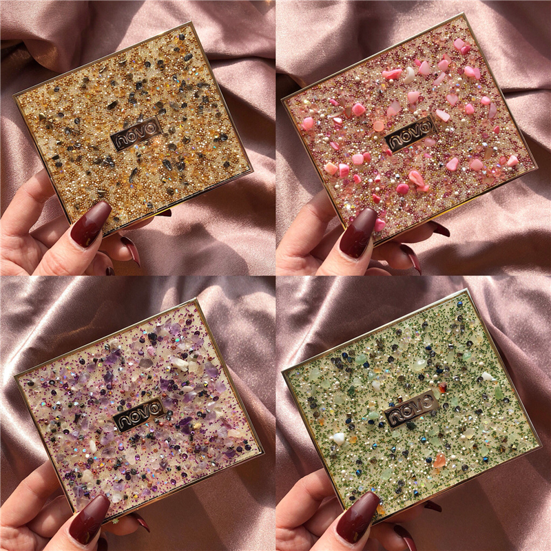 12 Color Radiant Glitter Pigment Eyeshadow Palette Smoky Shining Makeup Palette Matte Eye Shadow Pallete Cosmetic Makeup Palette in Eye Shadow from Beauty Health
