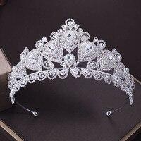 NEW Luxurious Bride Headdress Rhinestone Queen Princess Big Tiaras Crystal High end Wedding Bridal Accessories Crown Tiara ML682