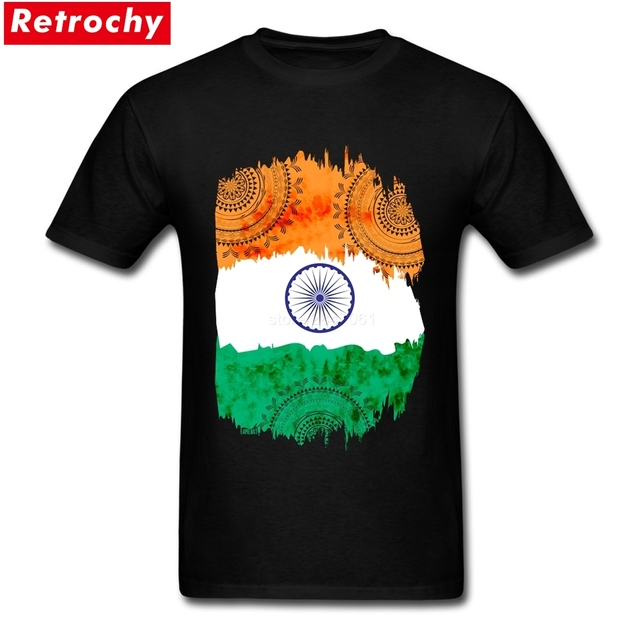 Tees India Shirt Flag T Design Bespoke Mens Mouw New Korte qSMLUpVjGz