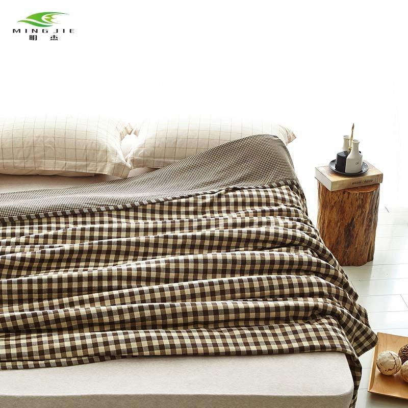 MING JIE 2017 NY Mote 100% bomullsteppe på sengen Skottland Pledd - Hjem tekstil