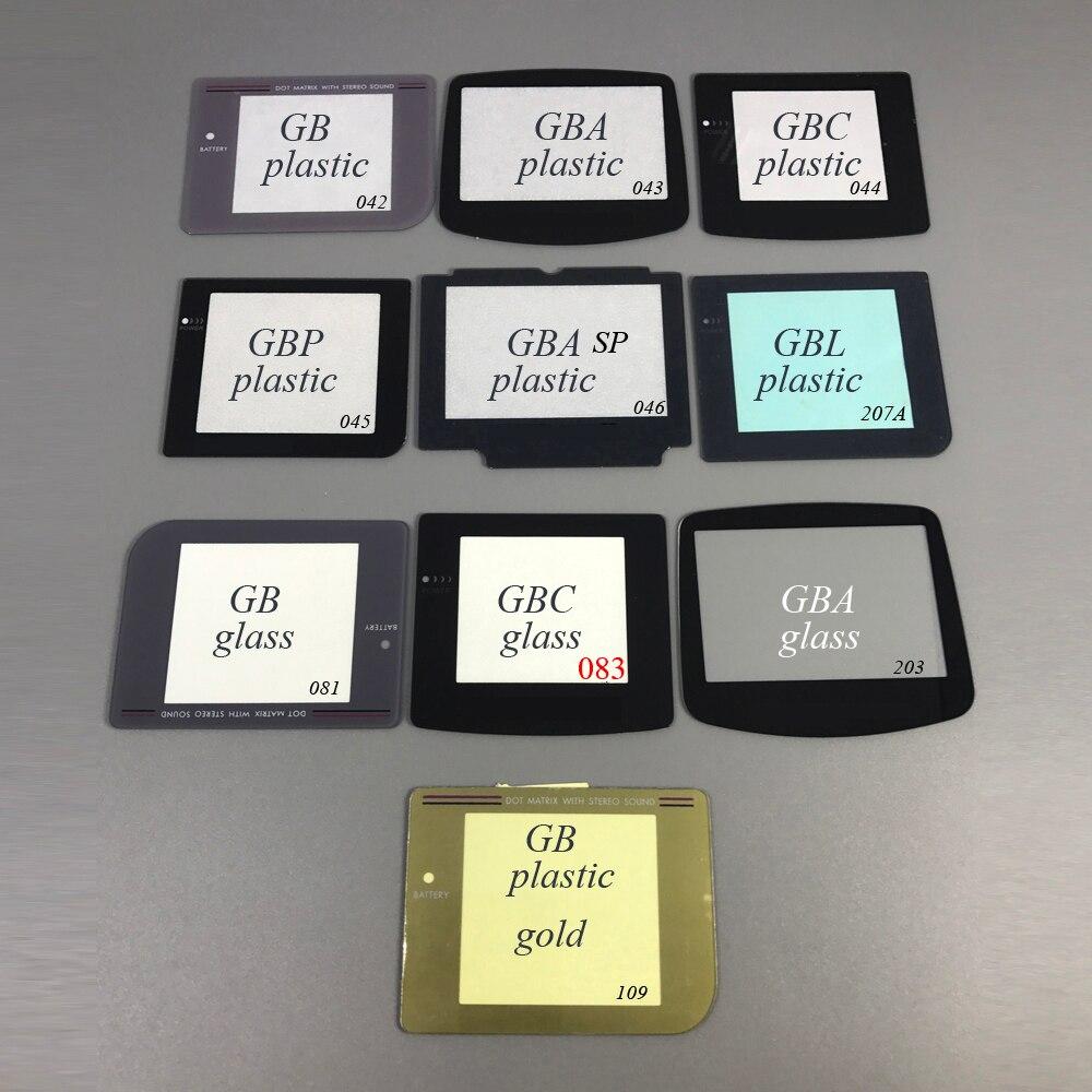50 stücke 12 modelle Kunststoff Glas Objektiv für GBC GBA GBP GBL GBA SP Bildschirm für Gameboy Farbe Voraus Tasche objektiv schützen-in Ersatzteile & Zubehör aus Verbraucherelektronik bei  Gruppe 1