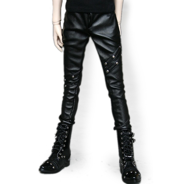 [wamami] 77# Black Leather Trousers/Pants For MSD DOD 1/4 BJD Doll Dollfie
