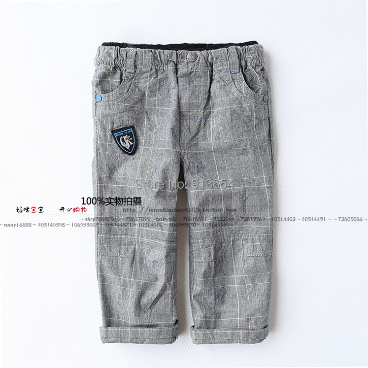 Pants Baby-Boys Autumn Kids Child New Gray Spring Casual Plaid