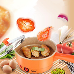 220V High Quality Electric Multi Cooking Pot 2 Layers With Steamer Automatic Electric Multifunctional Electric Frying Pan