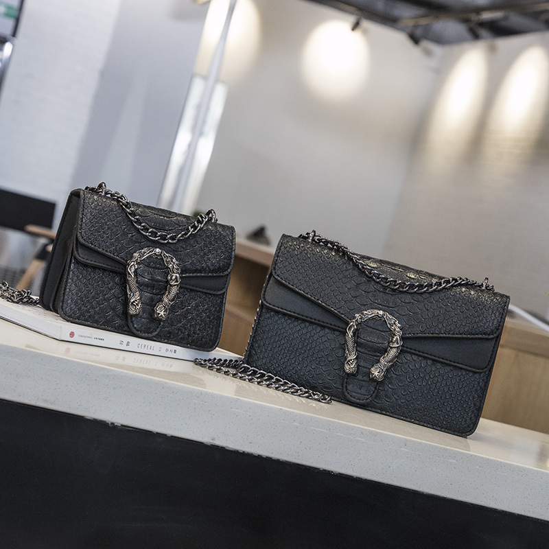 Image 5 - NEW Snake Fashion Brand Women Bag Alligator PU Leather Messenger Bag Designer Chain Shoulder Crossbody Bag Women Handbag-in Shoulder Bags from Luggage & Bags