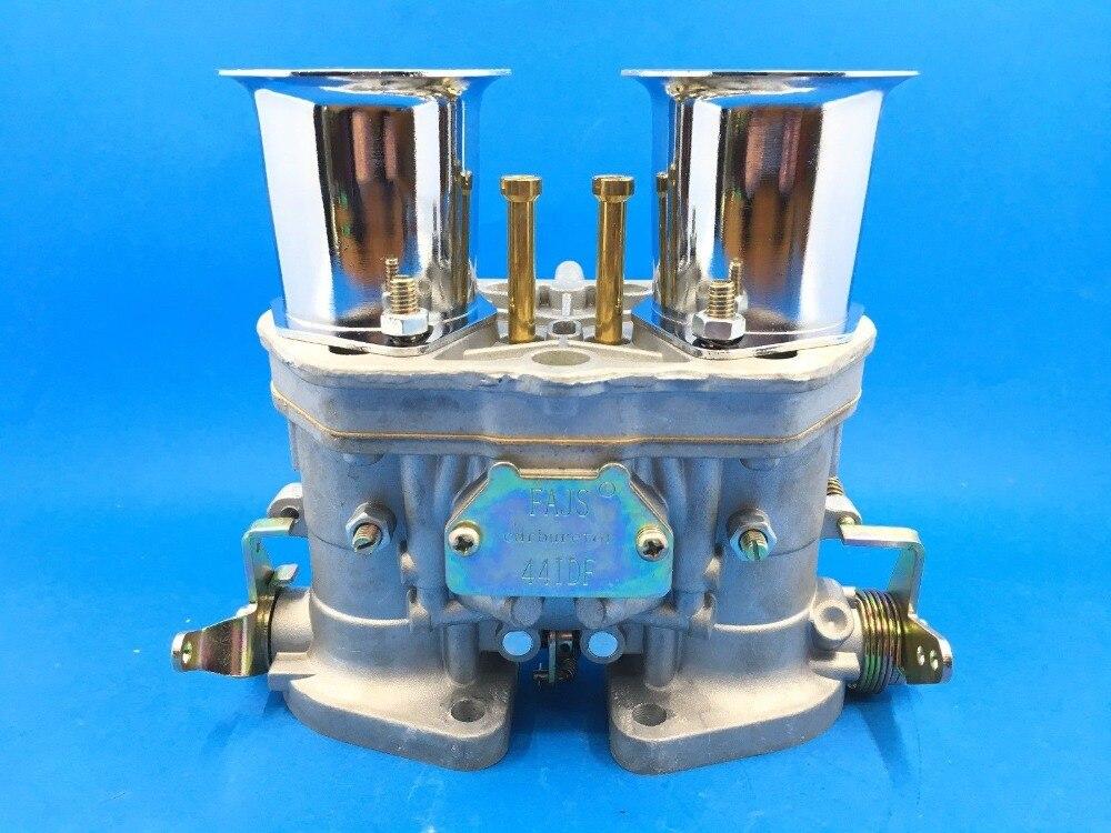 2 PCS/LOT NOUVEAU 44 IDF 44IDF CARBURATEUR CARBY oem carburateur + air cornes remplacement pour Solex Dellorto Weber EMPI
