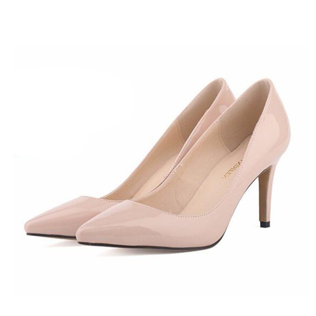 Wedding shoes 2016 new European women's fashion high heels pointed fine with singles shoes pumps zapatos mujer 88