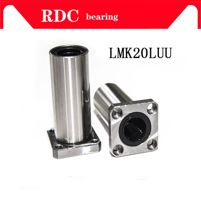 LMK20LUU 20mm High quality long type flange bearing linear bush 3d priter XYZ CNC parts LMK20L for 20mm linear guide rail